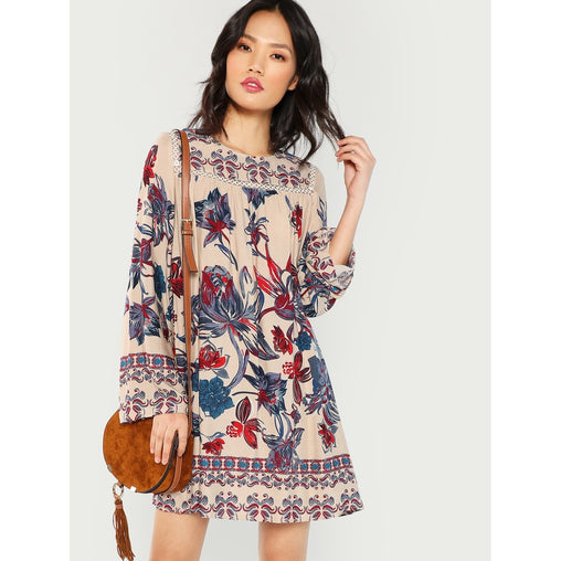 Multi Color Floral Tunic