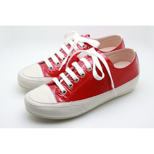 Patent Leather Sneaker Red