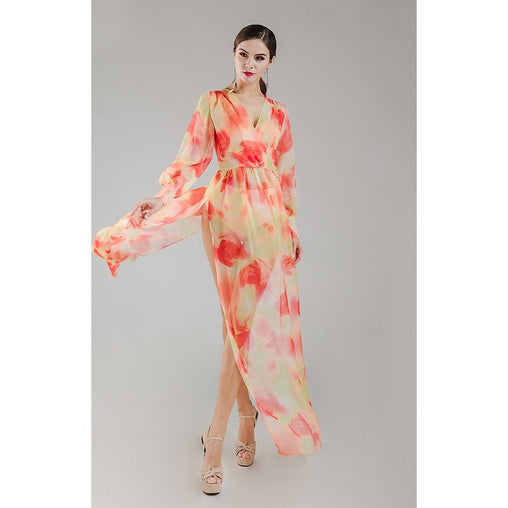 Chiffon Orange Beach Dress