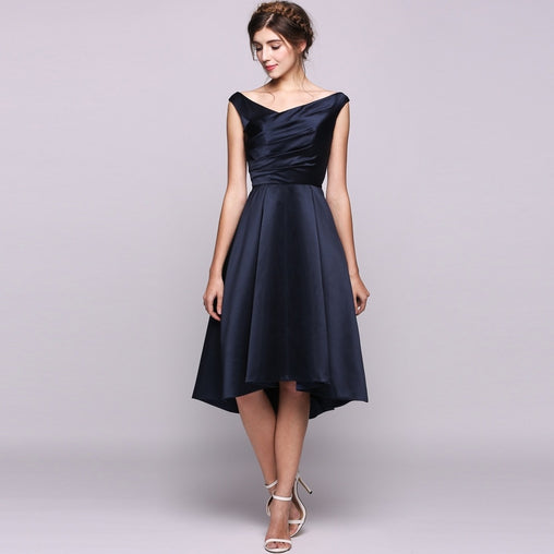 Plus Size Navy Blue Sleeveless Party Dress
