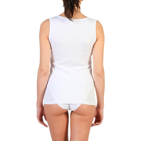 Vests & Tank Tops - Women's Trendy Pierre Cardin Underwear White Sleeveless Cotton Tank Top