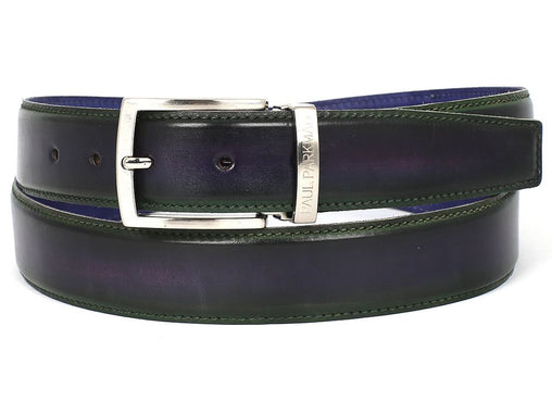 Green Calfskin Crust Leather Belt