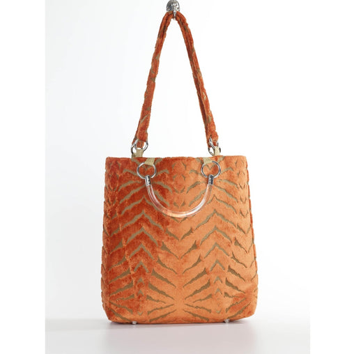 Orange Straps Large Tote Bag