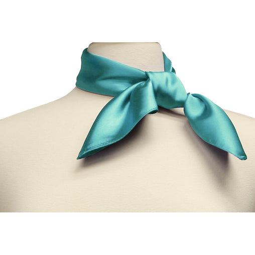 Aqua Silk Feel Neckerchief Square Scarf