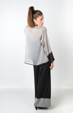 Shirts - Women's Trendy Black Sleeves Blouse