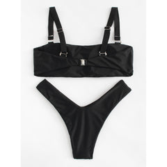 High Leg Bikini Set - Fashiontage