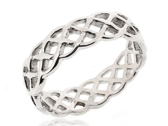 STACK TWISTED ROPE THUMB RING