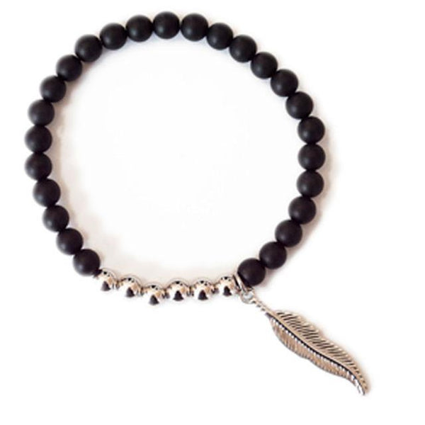 Bracelets - Women's Trendy Black Ariel Stretch Bracelet