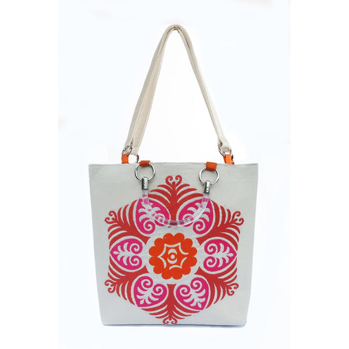 Magenta Suzani Large Tote Bag