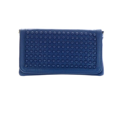 Flap Blue Clutch Bag