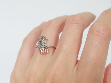 DOUBLE LOTUS FLOWER RING