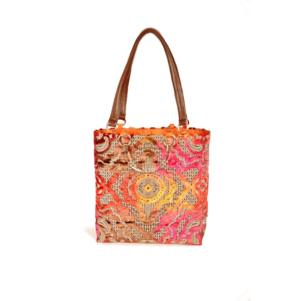 Magenta Baroque Large Tote - Fashiontage