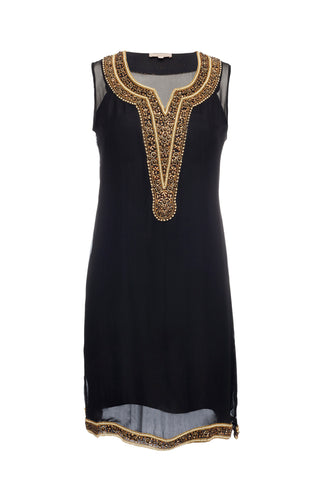 Day Dresses - Women's Trendy Black Tunic Dress