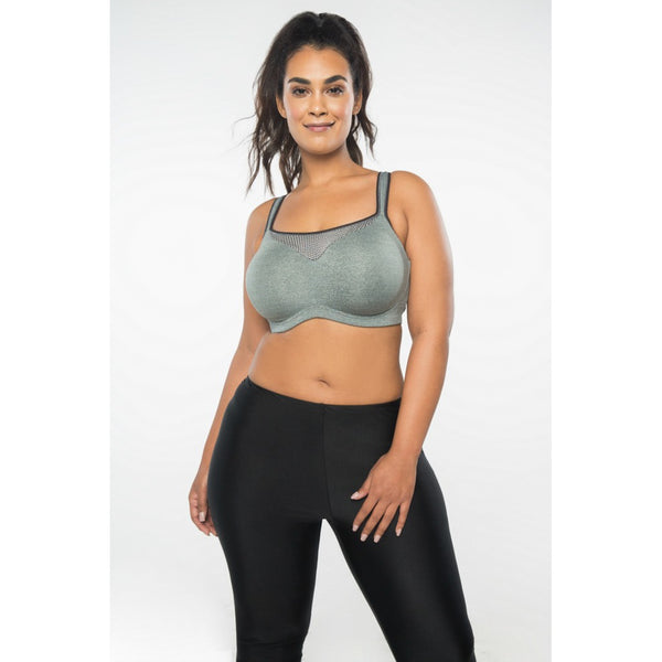Grey Adjustable Sports Bra