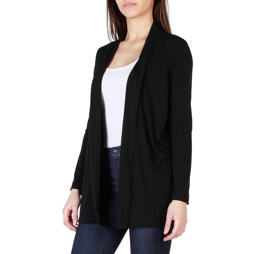 Sweaters - Women s Fruscio Black Sleeves Long Sweater at Fashiontage ... 5fd2e6d442a