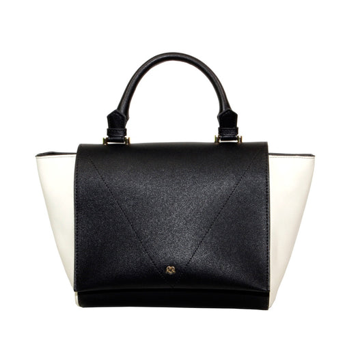 Black Color Block Crossbody Bag