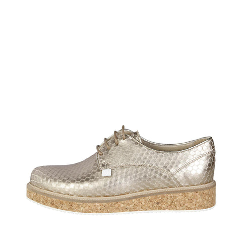 Trussardi Gold Leather Sneakers