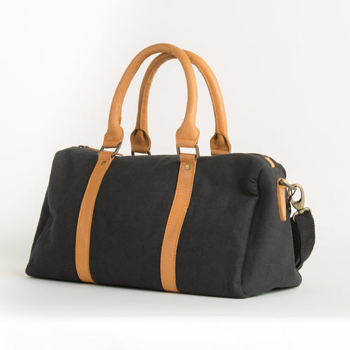 Leather Canvas Mix Duffel Bag