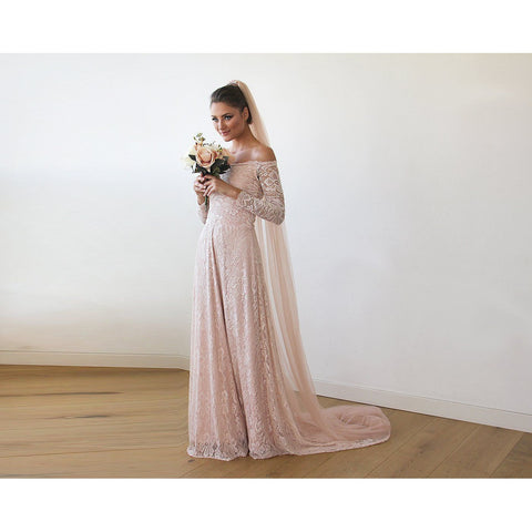 Long Sleeve Gown With Train