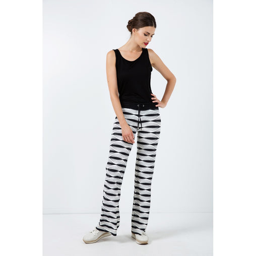 Black And White Pants - Fashiontage