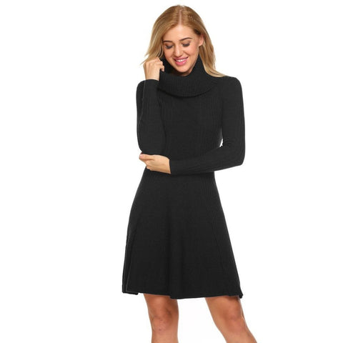 Black Collar Long Sleeve Sweater