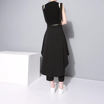 Pleated Maxi Chiffon Skirt