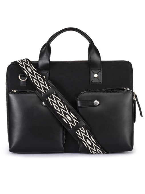 Black Print Crossbody Bag