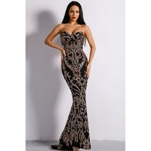 Black Formal Sequin Gown