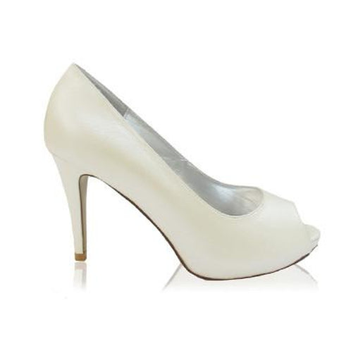 Ivory Leather Stiletto Pumps