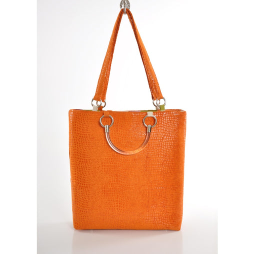 Boa Orange Large Tote - Fashiontage