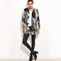 Collar Faux Fur Coat