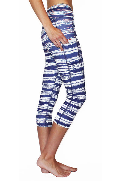 Tie-Dye Stripe Pocket Activewear Bottom