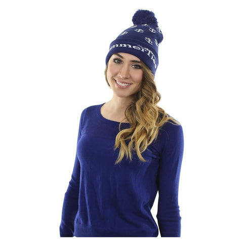 Blue Acrylic Winter Hat