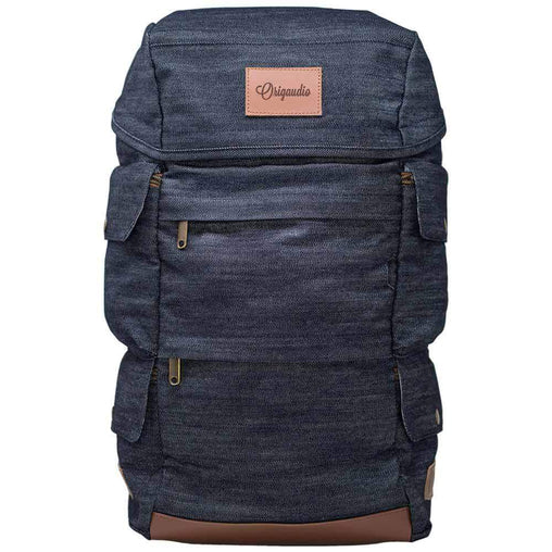 Black Water Resistant Fabric Backpack