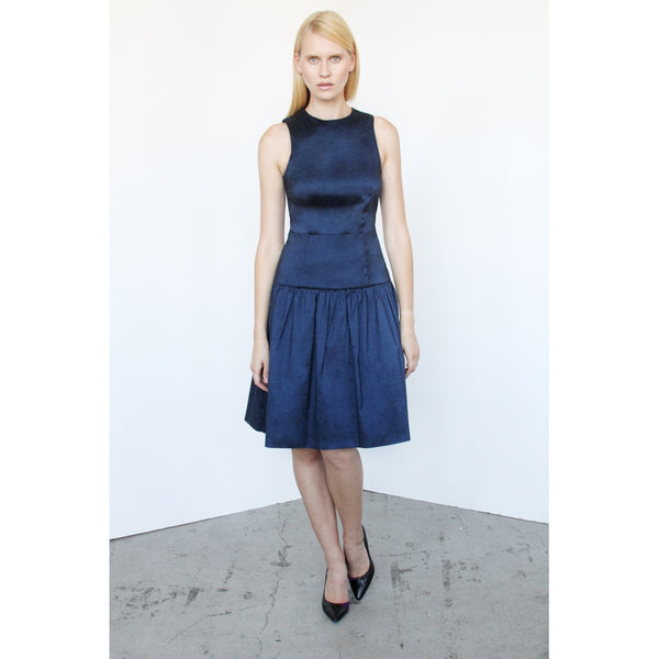 Day Dresses - Women's Trendy Navy Blue Sleeveless Dress