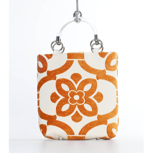 Orange Stencil Small Tote Bag