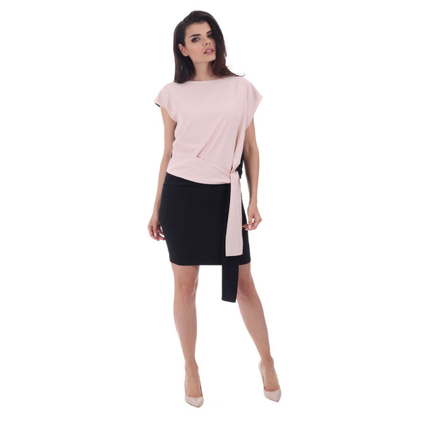 Cocktail & Party Dresses - Women's Trendy Beige Sleeves Short Cocktail Dress