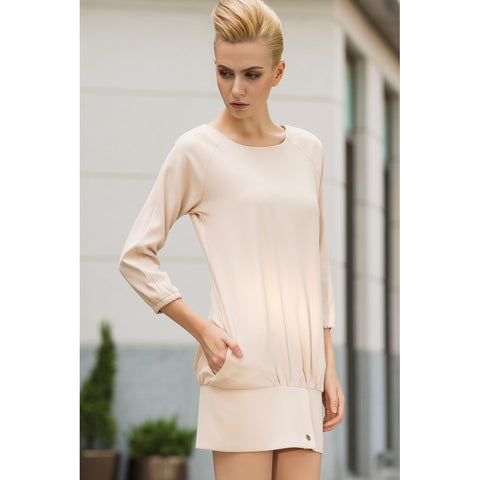 Day Dresses - Women's Trendy Almond Day Cream