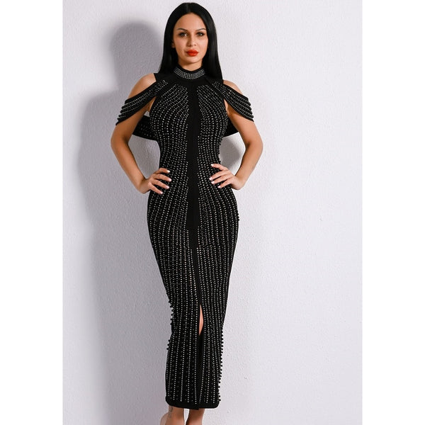 Formal Dresses Shop Womens Mid Calf Studded Dress At Fashiontage