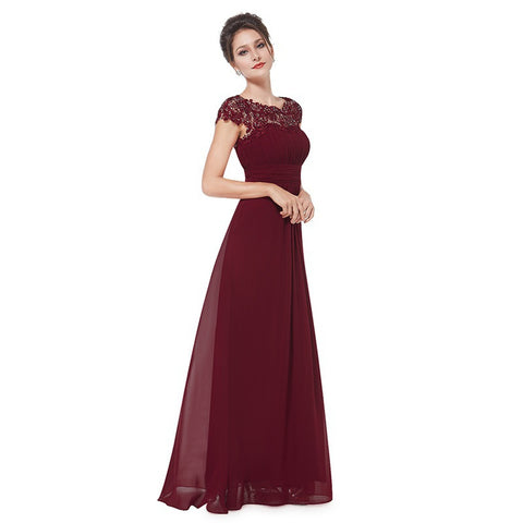 Burgundy Padded Daydress