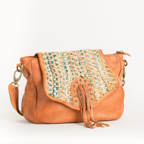 Orange Cow Crossbody Bag