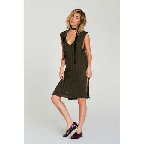 Day Dresses - Women's Trendy Plunge Neck Sleeveless Midi Sweater