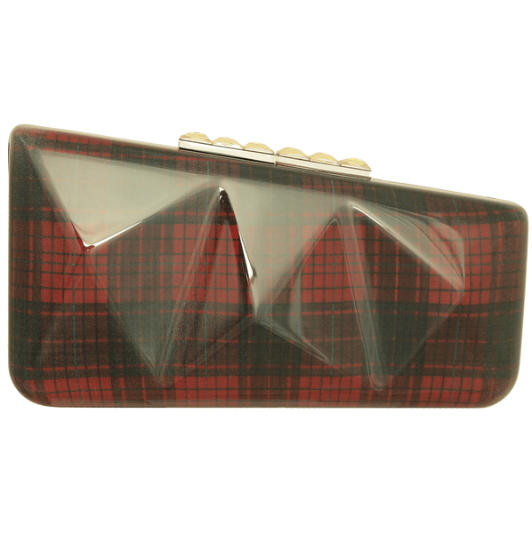 Red Lining Clutch Bag