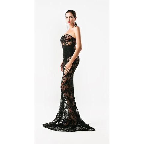 Black Casual Evening Gown