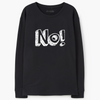 Sweatshirts - Women's Trendy Black Sweatshirt Top