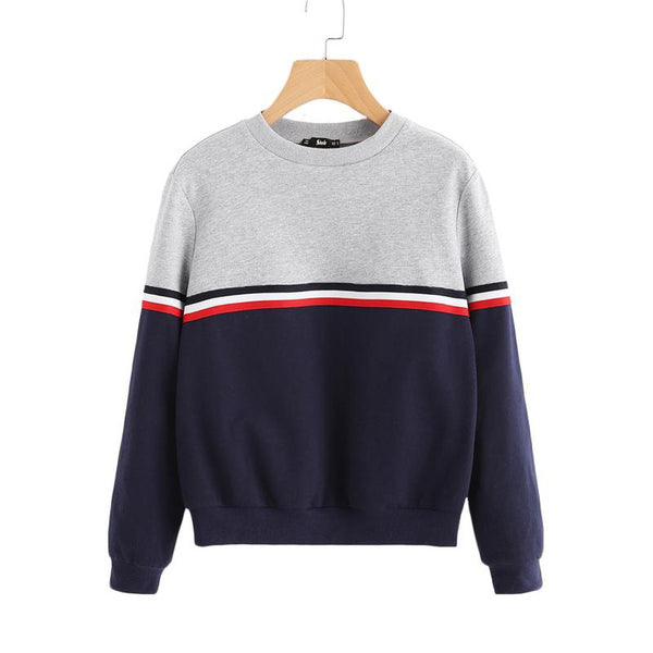 Hooded Striped Woven Sweatshirt