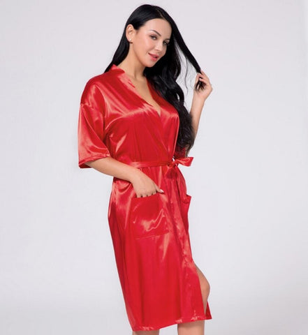 Nightwear - Women's Trendy Black Silk Nightwear