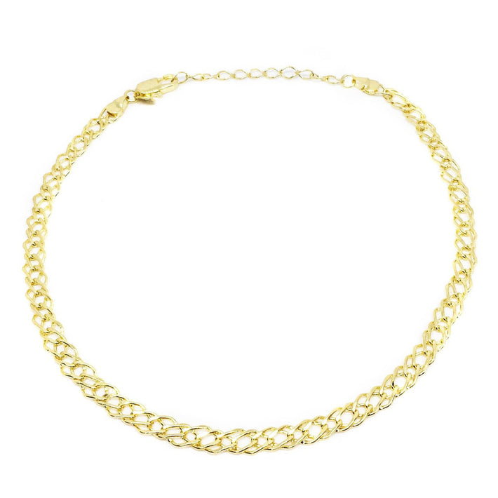 18k Gl Double Curb Choker