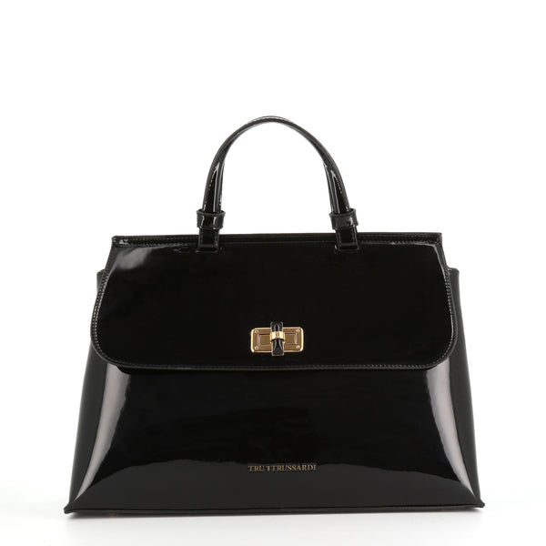 Trussardi Black Leather Handbag