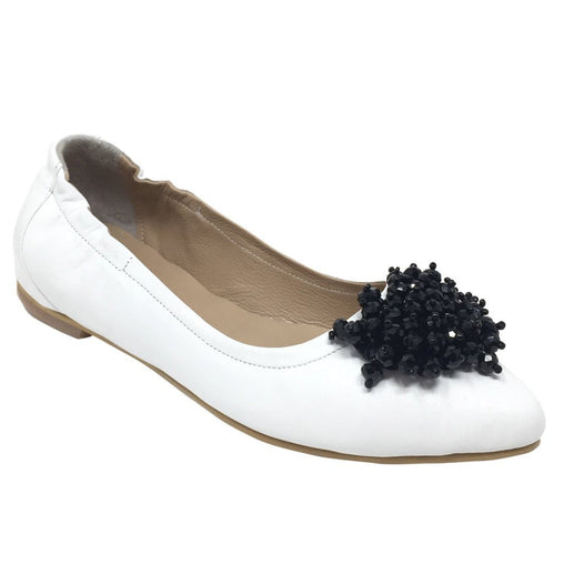 Black & White Slipon Flats